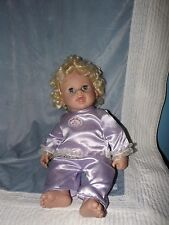 IRWIN TOYS 2003 BABY SO REAL! BEAUTIFUL DOLL, SILKY PJ'S. BLONDE CURLY HAIR
