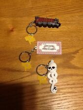 3 Harry Potter Collectors Key Chains Bundle Hogwarts Express, Ticket & Dark Mark