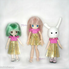 Obitsu 11cm Doll Azone Picco Neemo Picconeemo Outfit One-piece Dress Golden