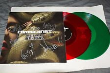 COMBICHRIST SIGNED THIS IS WHERE DEATH BEGINS VINYL LP CD WE LOVE YOU PROOF COA