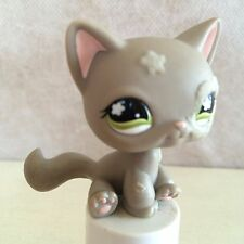 LPS Littlest Pet Shop #467 Gray Cat Fuzzy Eye Flower Forehead Green Eyes 9 pics