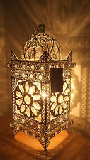 Table Lamp Stunning Moroccan Style Jeweled Cutwork Flower Brand New