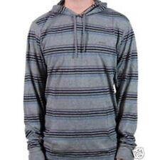 RVCA De LA Stripe Hood Knit (S) Grey Noise