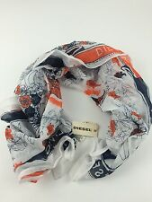 RPP 35£ Diesel Women's Scorpio Scarf Shawl Uni Size Color White 100% Cotton