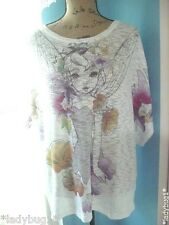 Disney TINKERBELL w/Flowers Ladies/Ladys~Womans~Womens XX-Large Top/Shirt