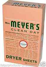 NEW MRS. MEYERS CLEAN DAY DRYER SHEETS LAUNDRY FABRIC SOFTENER DAILY CLOTH CARE