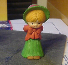 Enesco Country Cousins Katie in Victorian Clothing with present behind back