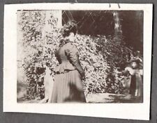 VINTAGE 1898 PHOTOGRAPH STRATFORD CONNECTICUT VICTORIAN WOMAN & CHILD OLD PHOTO