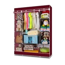 Keimav Heavy Duty Clothes and Wardrobe Organizer (Maroon)