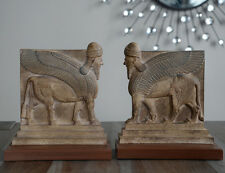 Assyrian Nimrud Palace guardians lamassu sculpture Bookends reproduction replica