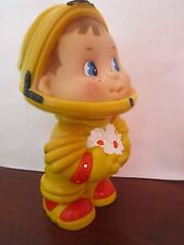 Vintage USSR Russian rubber toy doll Astronaut child boy Space Kosmos
