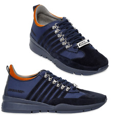 $440 DSQUARED2 STRIPED NYLON & SUEDE SNEAKERS Sneaker Active Shoes 40 Euro--7 US