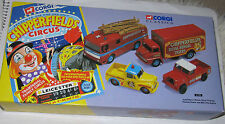 CORGI CHIPPERFIELDS CIRCUS x4 SET LAND ROVER AEC FIRE ENGINE MORRIS THAMES - MIB
