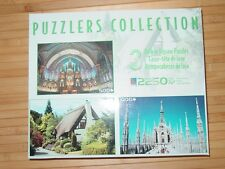 Milan Italy Notre Dame Basilica Cottage Sure-Lox Puzzler Collection 2008 3 Lot