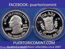 Silver PESETA TOA ALTA 2009 PUERTO RICO BORICUA QUARTER 1/100 Plata