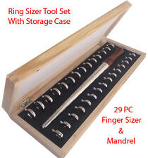 29 PC Metal Finger Ring Sizing Sizer Size Mandrel Gauge