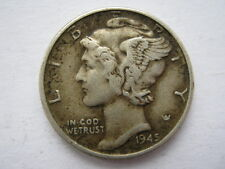 United States 1945 Mercury Dime