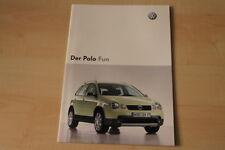 69245) VW Polo 9N Fun Prospekt 10/2003