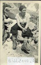 photo ancienne.Mont-Blanc .Aiguille Verte.Col de la Bûche. Colette . 1937