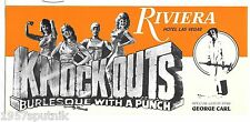 Knockouts Boxing Burlesque Riviera Las Vegas Hotel Casino brochure George Carl P