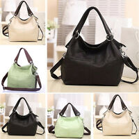 Neu Damen Ledertasche Handtaschen-Schulter-Tasche Messenger Umhängetasche