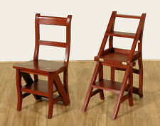 WHOLESALE Cherry Convertible Ladder Chair Office Step Stool G-42-WIS1 – QTY 1