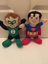 "9"" GREEN LANTERN & SUPERMAN DC Comics Super Friends Plush Stuffed Toy Factory"