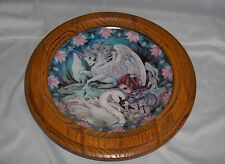 Only With The Heart Unicorn Plate Oak Frame Reco Guardians Of The Kingdom