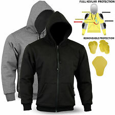 New Motorcycle Hoodie REINFORCED WITH DuPont™ KEVLAR® ARAMID FIBRE SIZE S - 6XL
