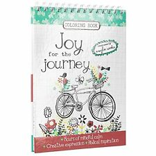 """Joy for the Journey"" Hardcover Inspirational Adult Coloring Book"