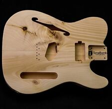Knotty Pine Tele Ashtray Humbucker Thinline Unfinished Telecaster Guitar Body