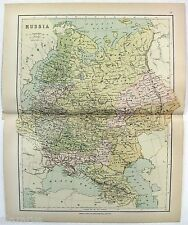 Original Vintage Map of Russia by Wm. Collins Sons & Co. c1875
