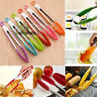 Stainless Steel Handle Utensil Silicone Kitchen Cooking Salad Serving BBQ Tongs