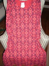"NWT FRESH PRODUCE100% COTTON  ""CALI""  DESIGN  DALIA DRESS ON  BARN RED (1X)"