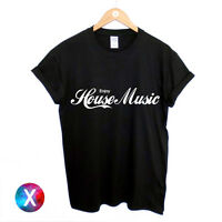 ENJOY HOUSE MUSIC PRINTED MENS T SHIRT DANCE TRANCE DJ IBIZA TEE WOMENS TOP CLUB
