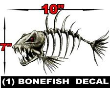 1 LARGE BONEFISH BONE FISH FOR SKEETER RANGER LUND FISHING BASS BOAT DECALS