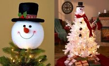 Christmas Tree Topper Snowman Decor Home Holiday Decoration Xmas Party Ornament