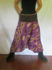 Sarouel Ethnique - Vetements Hippie Baba Cool - Africain Roopa Violet