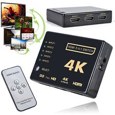 3D 5-Port 4K HDMI Switcher Switch Selector Splitter Hub iR Remote For HDTV 1080p