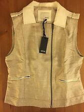 NWT GREYLIN WOMENS HARRIET ZIP UP VEST SIZE S SMALL COLOR SAND 100% POLYESTER