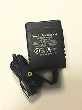 NEW SINO-AMERICAN  A30910C AC ADAPTER  9VAC  1000mA 1A UL - 6FT cord