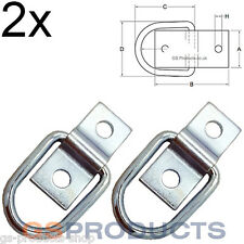 2x Mini Zinc Plated Lashing D Cleat Ring on Plate FREE P+P