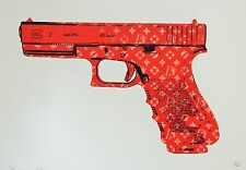 Death NYC - LV RED GUN) Rare Limited Edition Signed Graffiti/Urban Art Print