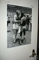 Pele Bobby Moore World Cup Shirt Swap Poster BW