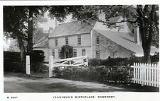 Tennyson Poet Birthplace Somersby Horncastle unused sepia RP old pc WHS Kingsway