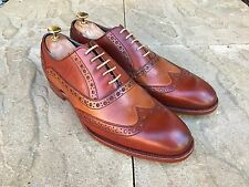 Barker Grant Wing Tip Brogue Shoes Rosewood Cedar Calf UK 8 B.N.I.B
