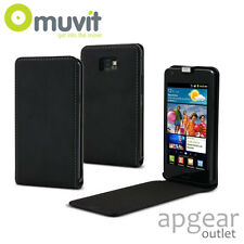 Genuine MUVIT SAMSUNG Galaxy s2 SLIM-NERO PLUS FLIP MUSLI 0011 Custodia Cover Telefono