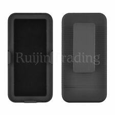 Black Armor Case Rugged Stand & Belt Clip Holster For Apple iPod Touch 5th Gen