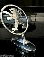 Peugeot Emblem Ornament Hood Metal Chrome Peugeot Badge Logo
