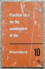 Norme 10 conseils pratique en entretien manuel mai 1960 # 506359 4e édition